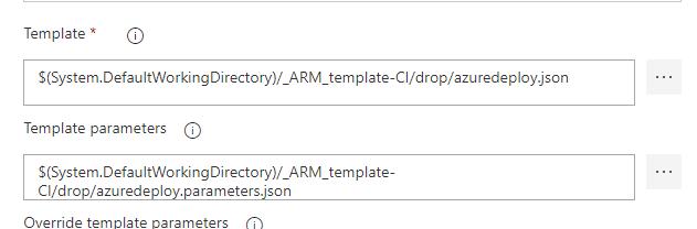 Build Deploy Azure DevOps ARM templates