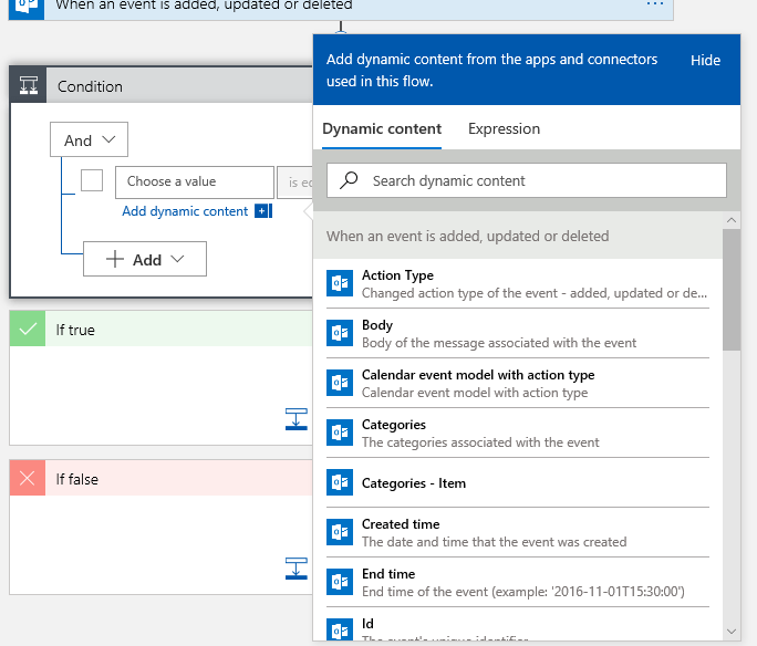 Trigger an Azure runbook with an Office365 Calendar Appointment