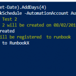 Script: Create linked runbookschedules with Powershell