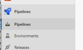 pipelines menu