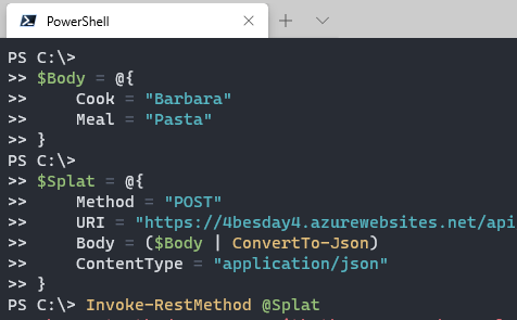 Calling a REST API from PowerShell