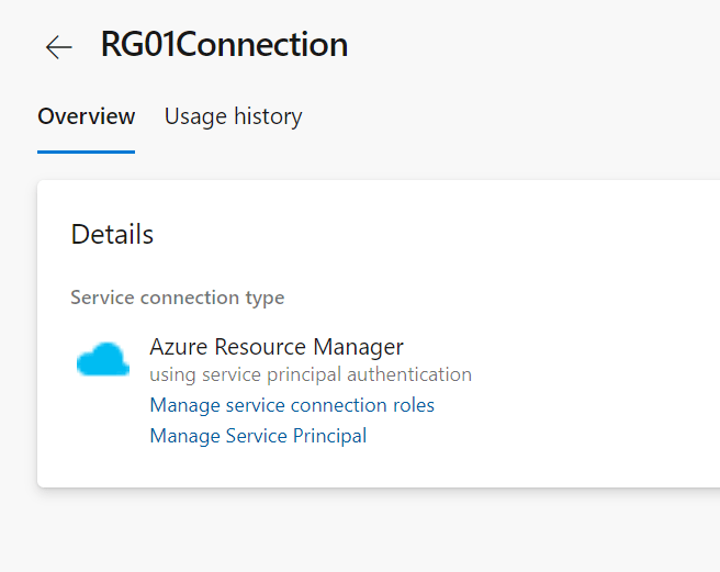 Azure DevOps service connection to Azure with PowerShell: finished service connection