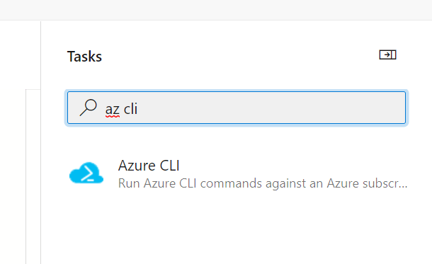 Deploy Bicep with Azure DevOps pipelines: the assistent showing the azure cli task