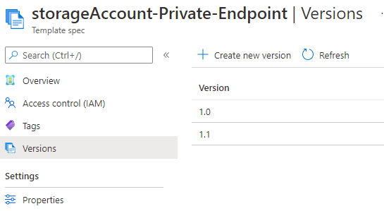 From Bicep to ARM Template specs with Azure DevOps: Versioning in the portal